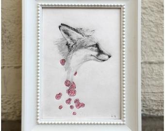 Portrait of a Fox Prince - original drawing 2016