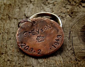"""Custom Pet ID, Custom Dog Tag, 1"""" copper, Greyson"""