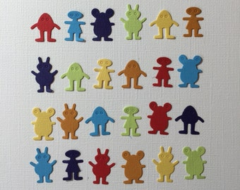Alien Embellishment Die Cuts for Scrapbooking and Paper Crafts UFO Little Green Men X-Files