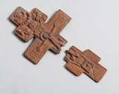 Antique huge Old cross Christian Cross broken. Orthodox church