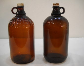 Vintage Purex Bottle/Bleach Bottle/Vintage Glass Jar/1930's Glass Bottle