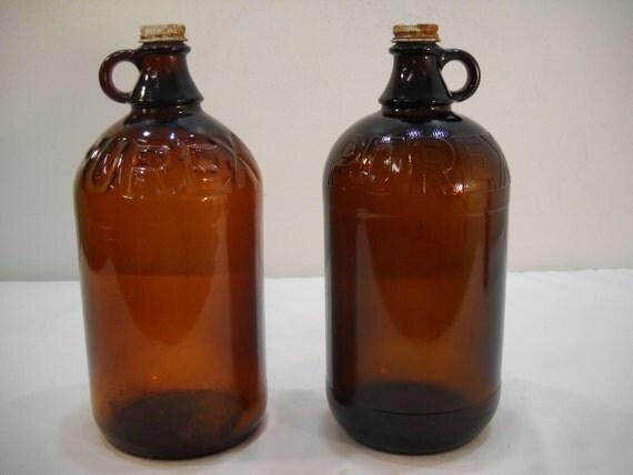 Vintage Purex Bottle/Bleach Bottle/Vintage Glass Jar/1930's Glass Bottle