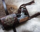 Decorative Leather Nerf Maverick / Strongarm Holster