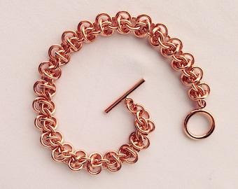 Copper Chainmail Bracelet, Arthritis Bracelet, 7th Anniversary, Copper Chainmail, Mens Copper Bracelet, Womens Chainmail, Mens Chainmail