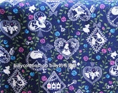 w788_45 - fairy tales-Alice in Wonderland fabrics - cotton fabrics - Half Yard