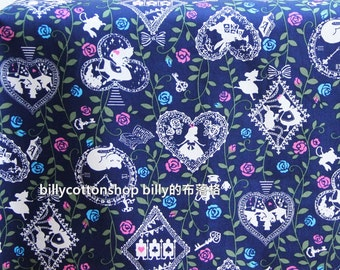 w788_45 - fairy tales-Alice in Wonderland fabrics - cotton fabrics - Half Yard