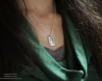 Custom Date Necklace: Personalized with One Pendant, One Date.