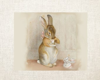 Bunny Tea Time Note Cards