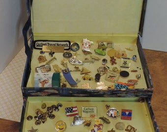 Vintage Pin Collection  Taxi Pin Souvenier Pin Tac Pins Stick Pins Mn Gophers