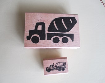 Vintage Concrete Truck Rubber Stamp