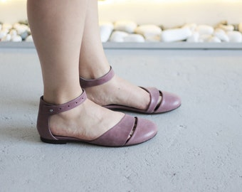 HEIDI - Lilac - FREE SHIPPING Handmade Leather Shoes