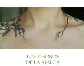 Crow torc necklace