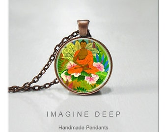 BUY 2 GET 1 FREE Buddha Pendant Necklace High Quality Handmade Silver Copper Pendant - Buddha Forest (042)