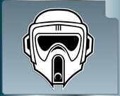 BIKER SCOUT Helmet vinyl decal from Star Wars Scout Trooper