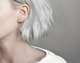 Uneven line earrings