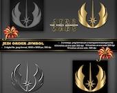 Jedi Order Symbol, Star Wars Movie The Force Awakens Movie, Logo, poster, printable, greeting card, stationery, tags boy birthday invitation