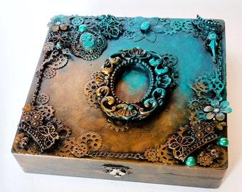 Sale - Whimsy - Fantasy Steam Punk Decorative Box