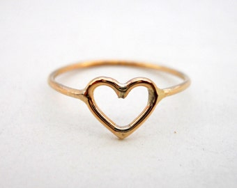 Heart Ring 14k Gold Filled