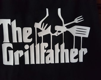 The Grill Father Apron, Aprons For Men, Men Apron, Grilling Apron, The Grill Father Apron for Men,