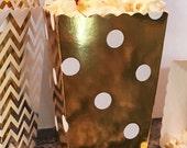 24 Gold Foil Party Favor Boxes, Gold Foil Wedding Favor Boxes, Cookie Boxes, Candy Boxes, Donut Boxes, Mini Snack Boxes, Party Treat Boxes