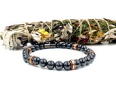 Bali Copper & Black Hematite Magnetic Therapy Bracelet || SUPER STRONG Magnetic Clasp || Wellness Health || unisex design