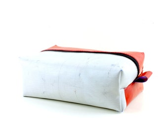 Truck tarpaulin washbag, Unique toiletry bag, Travel Kit, Make Up Bag, Dopp Kit, Recycled dopp kit, Fully lined and unique (6.11)