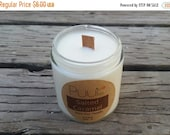 Summer SALE Salted Caramel Soy Candle - Scented Container Candle - Autumn Home Fragrance - 4 oz Pure Soy Paraffin Free Candle