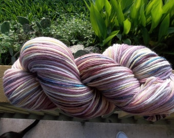 Honey Grape, Hand Dyed Varigated Yarn, Aran Weight