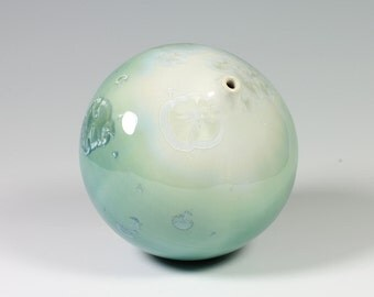 Sea Green Crystalline Glazed Bottle