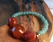 Carnelian and Jade Bracelet (Second Chakra - Low energy, bad moods, depression, bad circulation)