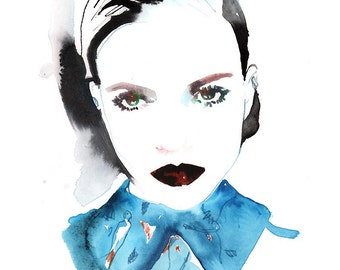 Original Watercolor Painting, Fashion illustration, Christian Dior, Fashion Art, Fashion Painting, Watercolor Fashion Illustration