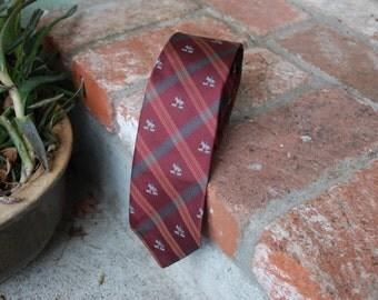 Vintage Rooster Burgundy Equestrian Horse Dog Hunting Hunter Outdoorman Theme Necktie Silk Tie Wedding Preppy High Fashion Designer