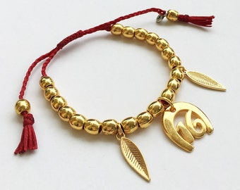 Frienship bracelet - 2016 Lucky Charm with beads
