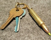 Zombie 223 Rem 5.56mm Real Bullet AR-15 brass key chain ring fob cool gift for him AR 15.