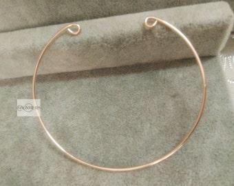 20 pcs dainty wired bracelet findings- rose gold plating brass open  basic bangles wired bracelet findings-T0177meigui