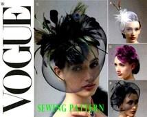 Fascinator Hats Pattern Vogue V8868 Womens Millinery Sewing Pattern Crinoline Feather Rosette Netting Uncut Bridal Headpiece Birdcage Veils