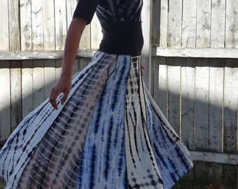 Tie-dye Patchwork Dress
