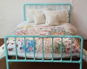 Double Doll Bed Retro Style Metal Bed for Blythe or Barbie