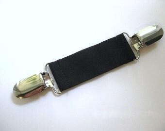 Black Elastic Dress Clip- Womens Shirt Clip- Cinch Clip- Garment Clip- Elastic Clip BELT- Custom Fit for clothing- Waist Cinch- Jacket Clip