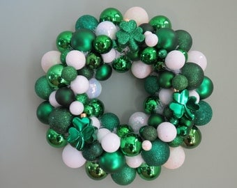 ST. PATRICK'S Day Wreath Ornament Wreath with 3 Shamrocks