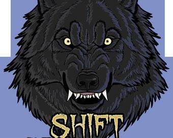 Shift Happens Werewolf Sticker