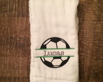 Soccer Ball Burp Cloth
