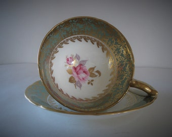 AYNSLEY Bone China 1920's England Tea Cup And Saucer.