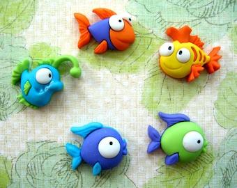 Fish Animal Thumbtack, Tropical Fish Push Pin,  Aquarium Fish Notice Board Pins, Fish Push Pin