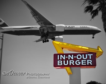 Incoming (Over In-N-Out Burger) - Fine Art Photography Digital Photo, High-Resolution, Instant Download