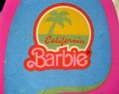 California Barbie Vintage 1987 Pink Surfboard w/Stickers