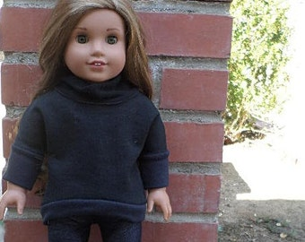 cowl neck sweater for 18 inch dolls