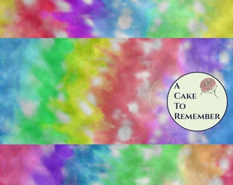Digital download--Printable stripe tie dye JPG files for cake decorating or cupcake decorating, scrapbooking, tie dye digital paper
