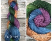 Hand Dyed Yarn, Hand Dyed Yarn, Fingering Weight Yarn, Hand Painted Yarn