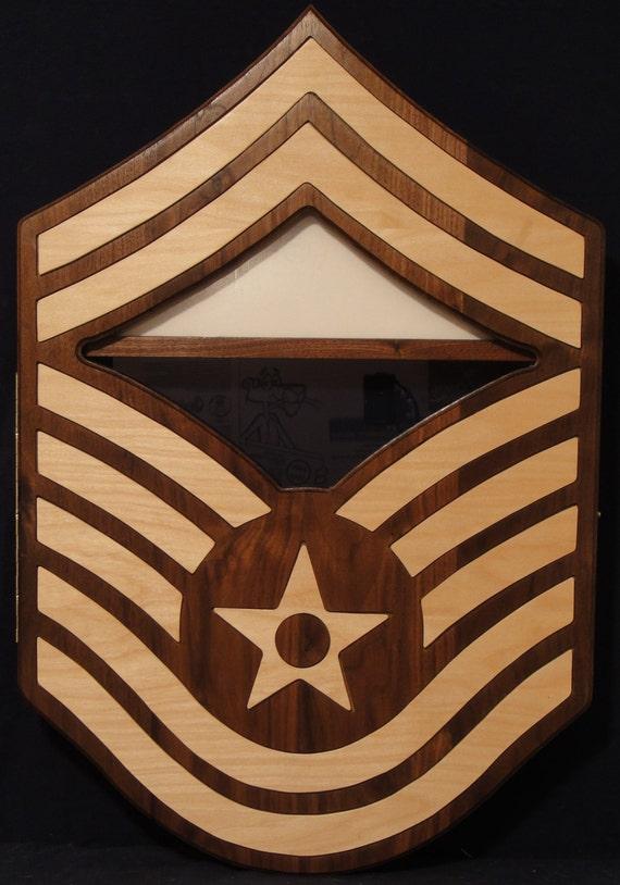 USAF SMSgt Chevron Shadow Box